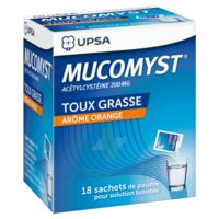 MUCOMYST 200 mg Poudre pour solution buvable en sachet B/18 à CLERMONT-FERRAND