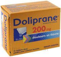 DOLIPRANE 200 mg Poudre pour solution buvable en sachet-dose B/12 à CLERMONT-FERRAND