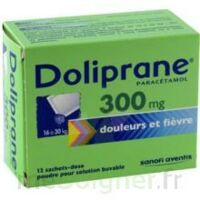 DOLIPRANE 300 mg Poudre pour solution buvable en sachet-dose B/12 à CLERMONT-FERRAND