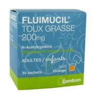 FLUIMUCIL EXPECTORANT ACETYLCYSTEINE 200 mg SANS SUCRE, granulés pour solution buvable en sachet édulcorés à l'aspartam et au sorbitol à CLERMONT-FERRAND