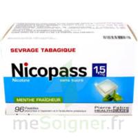 Nicopass 1,5 mg Pastille sans sucre menthe fraîcheur Plq/96 à CLERMONT-FERRAND