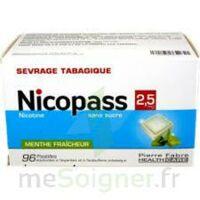 Nicopass 2,5 mg Pastille menthe fraîcheur sans sucre Plq/96 à CLERMONT-FERRAND