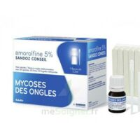 AMOROLFINE SANDOZ CONSEIL 5 % V ongles médicamenteux Fl/2,5ml+30 spatules à CLERMONT-FERRAND