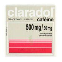 CLARADOL CAFEINE 500 mg/50 mg, comprimé effervescent à CLERMONT-FERRAND