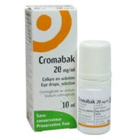CROMABAK 20 mg/ml, collyre en solution à CLERMONT-FERRAND