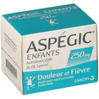 ASPEGIC ENFANTS 250, poudre pour solution buvable en sachet-dose à CLERMONT-FERRAND
