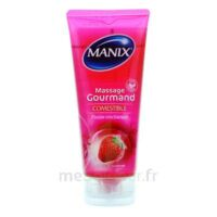 Manix Gel comestible de massage fraise 200ml à CLERMONT-FERRAND