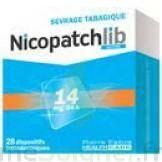 NICOPATCHLIB 14 mg/24 h Dispositifs transdermiques B/28 à CLERMONT-FERRAND