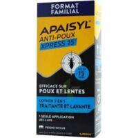 Apaisyl Anti-poux Xpress 15' Lotion antipoux et lente 100ml+peigne à CLERMONT-FERRAND